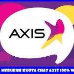 Cara Mengubah Kuota Chat Axis 10Gb Menjadi Kuota Reguler 24 Jam